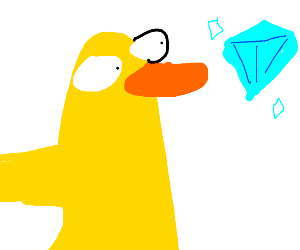 Duck finds a diamond