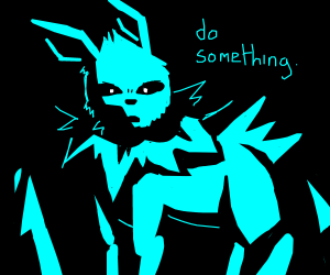 Blue Jolteon demands you to do something