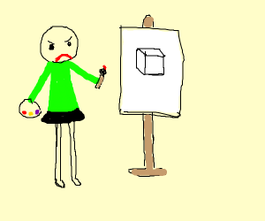 Baldi is now an art teacher, he has a skirt