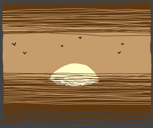 Old photo filter sunset