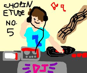 Dj plays classical music