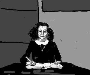Anna Frank writes her diary