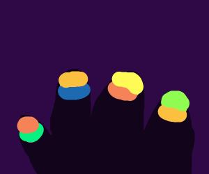 Rainbow nails!