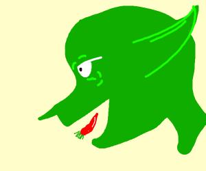 Goblin eating Pepper