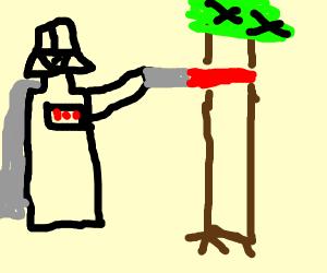 star wars guy kills trees