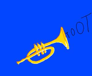 Trumpet going Toot