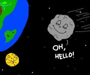 Asteroid careens towards earth