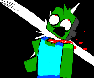 minecraft zombie gets decapitated