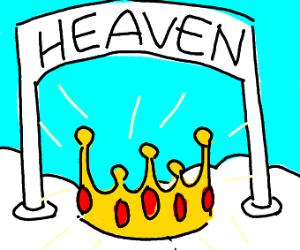 A beautiful crown in heaven