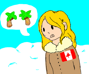 """""""Two Palm Trees"""" - Canada Girl"""