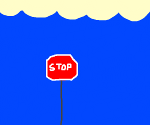 Underwater Stop Sign