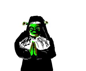 Shrek nun praying