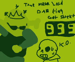 Shrek Dabbing on Sans