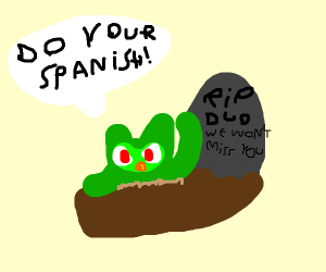 Duolingo owl rises from the dead to kill you