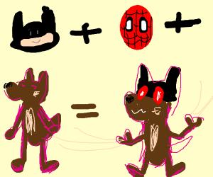 Batman, fat spiderman and a furry fusion