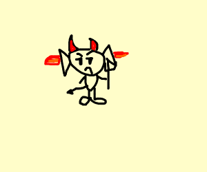 Devil Guy shooting fire out of his ears