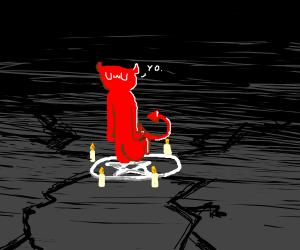 The UwU Demon being summoned