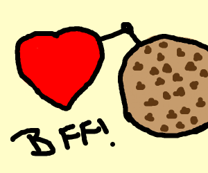 It's a heart and a cookie they best friends