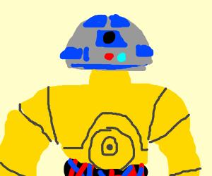 C3P0 put R2D2's head on