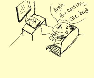 Fish is unhappy at Ps4 controls