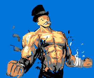 The Monopoly Man is ripped