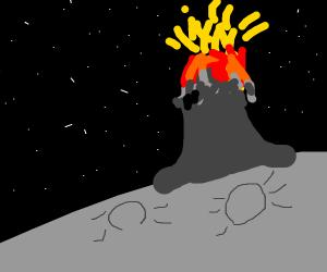 Volcano on a moon