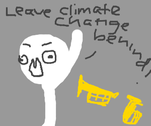 Leave climate change behind, escape inst