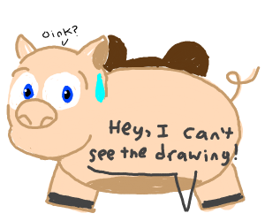 pigs that take up the whole drawing