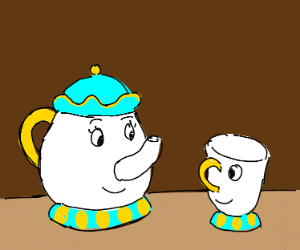 Teapot and teacup from beauty and beast