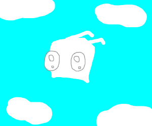 Invader Zim: on the clouds