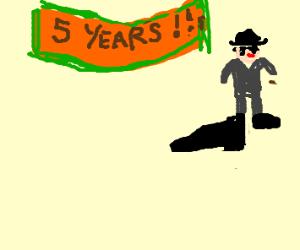 FBI man has giant foot on anniversary