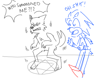 Sonic summons a furry