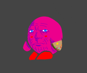 Kirby inhales Thanos