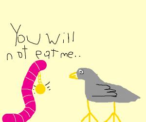 Swami worm hypnotizes bird to not get eaten