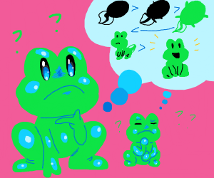 Frogs think of frog evolution