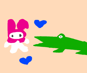alligator thing about eating a bunny