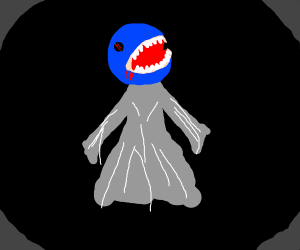 Blue pakman ghost I forget the name of