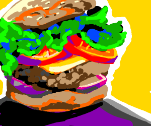 Heavenly hamburger