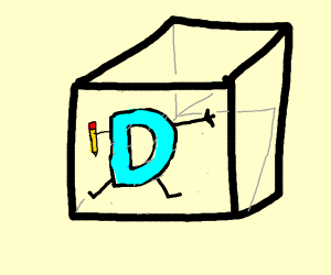 Drawception logo in a box