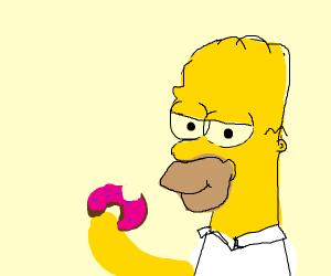 Homer simpson eats a juicy donut >.<