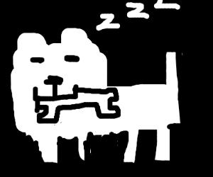 Annoying Dog steals Papyrus's bone