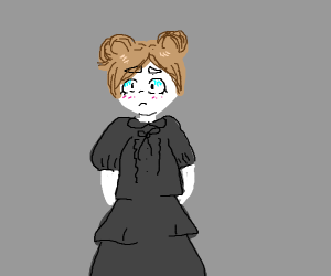 scared girl from the 1800s