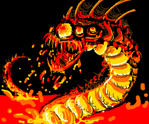 A bad ass lava dargon