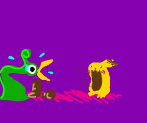 pikachu absorbs link