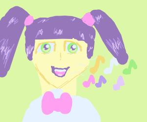 anime girl singing