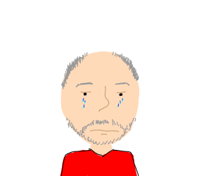 Old man crying