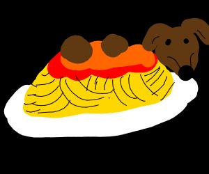 Spaghetti doggo