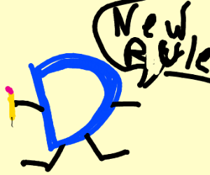 Drawception D tells you the new rules