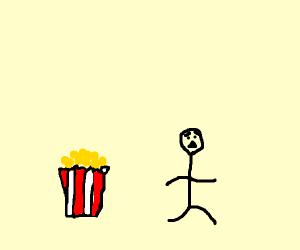 Running from popcorn