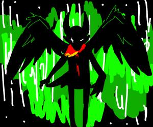 Impaled Wingéd Dog-Deamon's Green Aurora